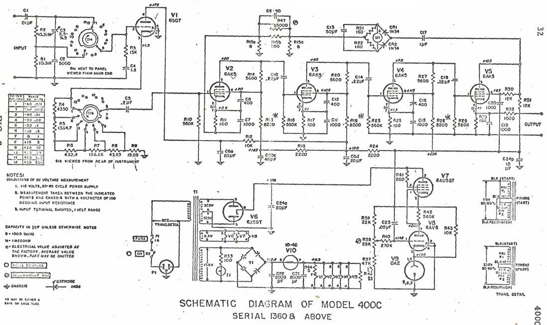 HP-400C schematic