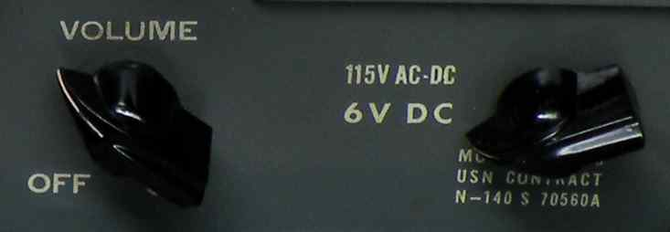 Navy 6000-BAC voltage switch