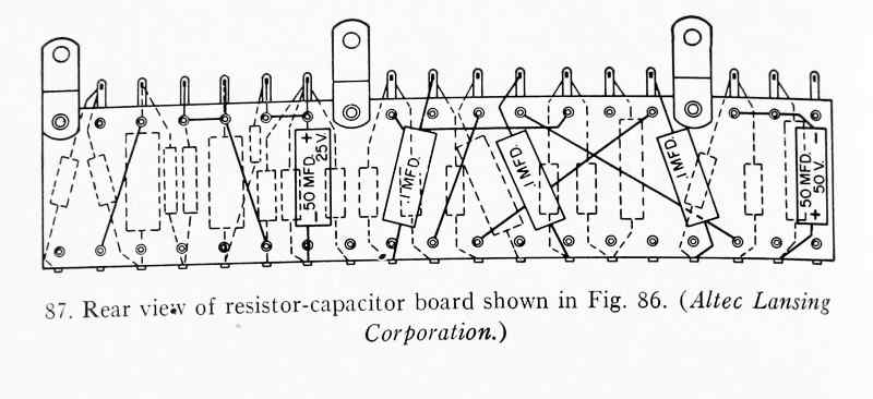 Altec A-323B resistor capacitor pictorial