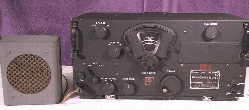 Signal Corps BC-348 receiver