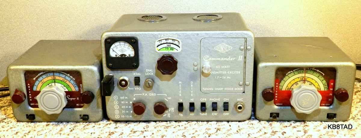 Gonset Super Six with Heathkit EF-1 power supply and car radio