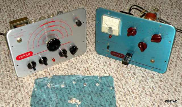 Conar transmitter and receiver blue vinyl