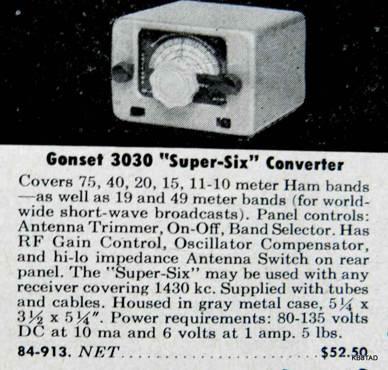 Gonset Super Six ad