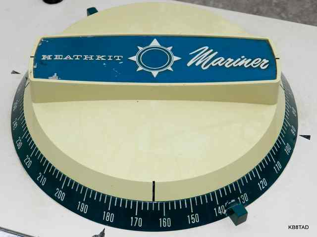 Heathkit MR-18 direction finder antenna and compass rose