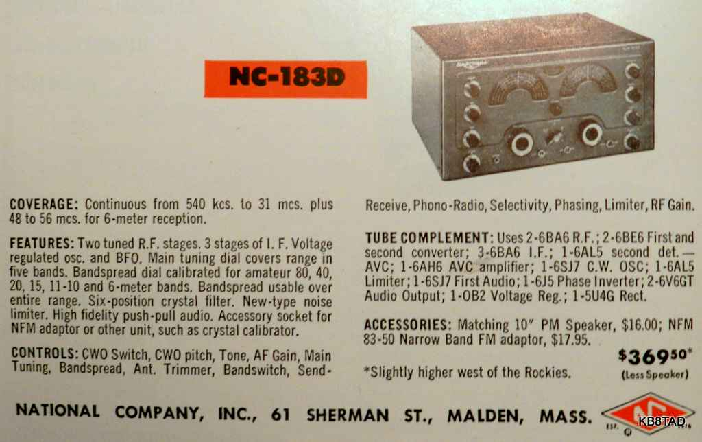 National NC-183D ad