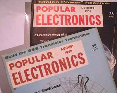 Ads in 1958 Popular Electronics