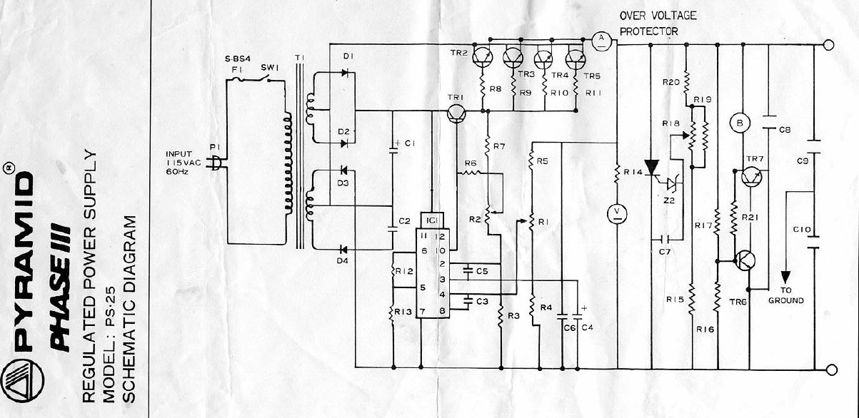 Pyramid Phase III PS-25 schematic