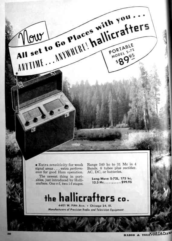 Hallicrafters S-72 ad