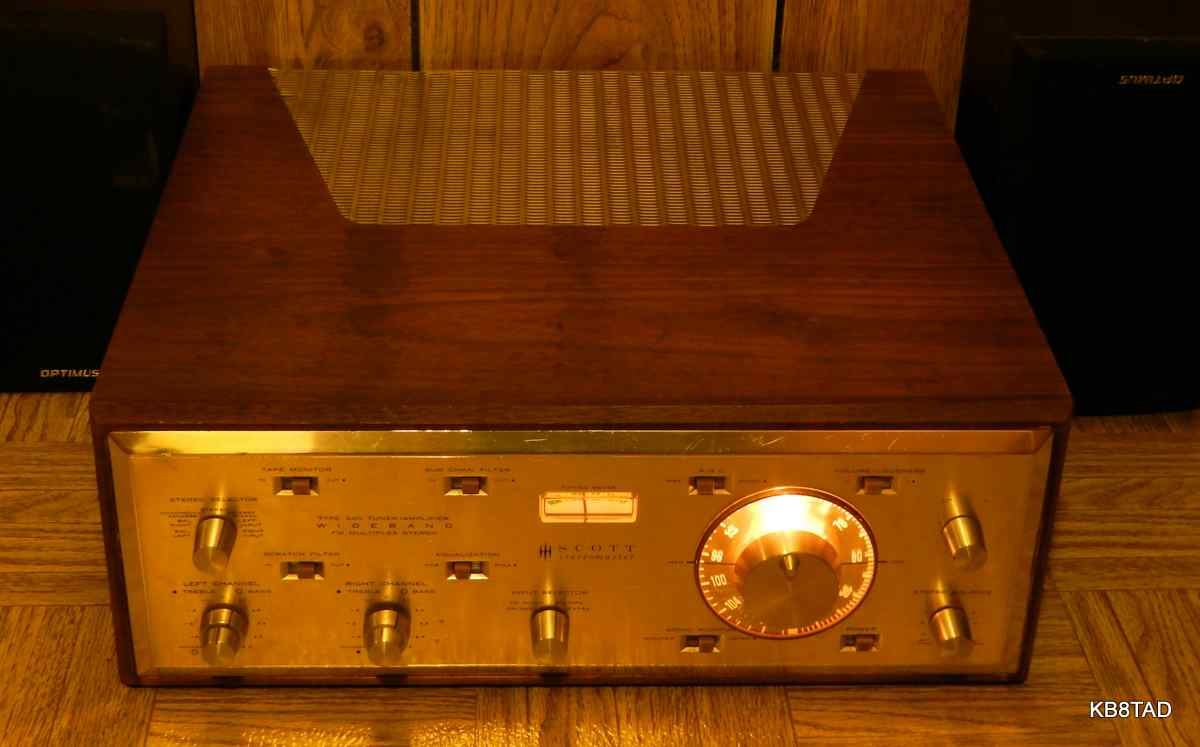 HH Scott 340 Stereomaster tuner-amplifier with case
