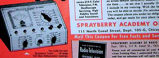 Sprayberry Academy of Radio Ad 1/56 Poptronics (42k)
