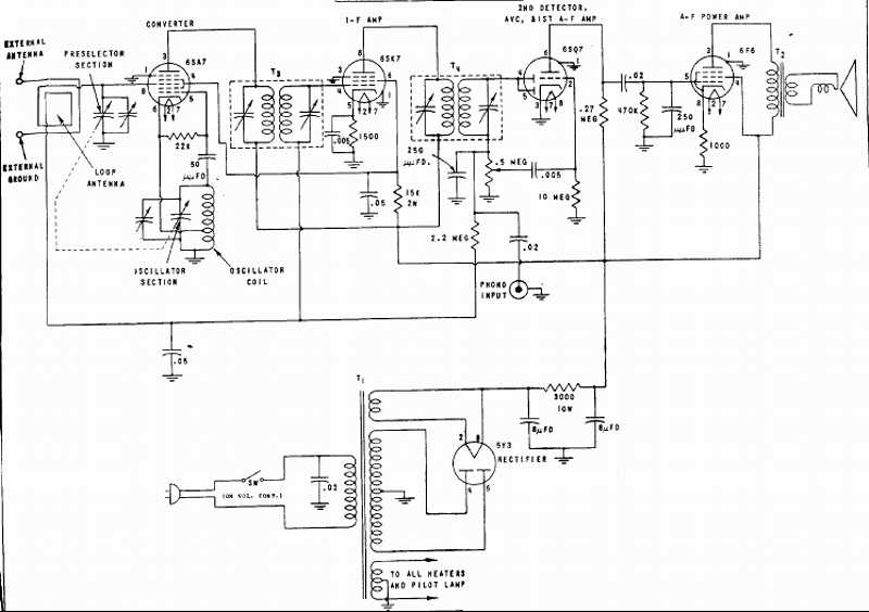 UEL AM Broadcast radio schematic