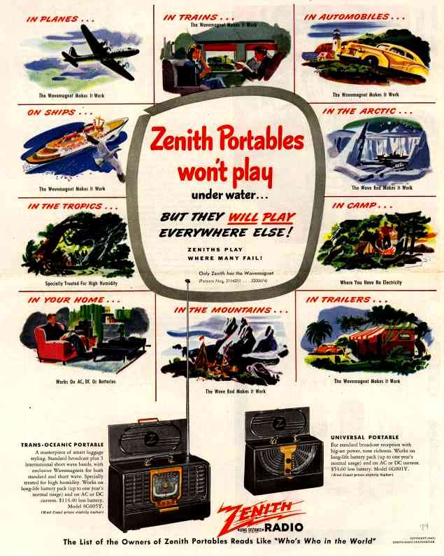 Zenith Long Distance and Transoceanic Ad