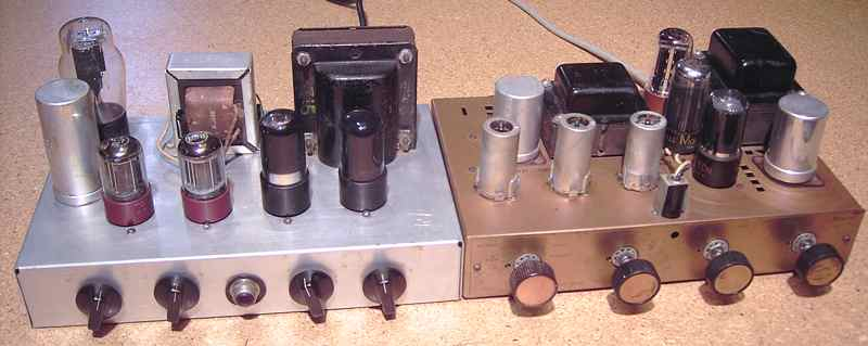 Bogen DB-110 amp and Arkay A-12 clone amp