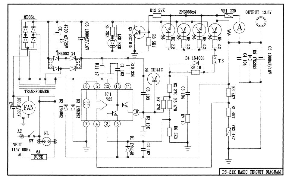 Pyramid PS-21KX schematic